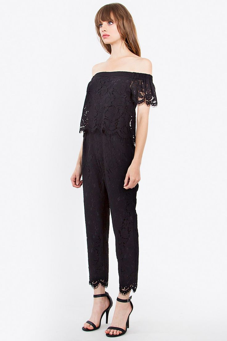 17 best ideas about Black Lace Jumpsuit on Pinterest | Fall night ...