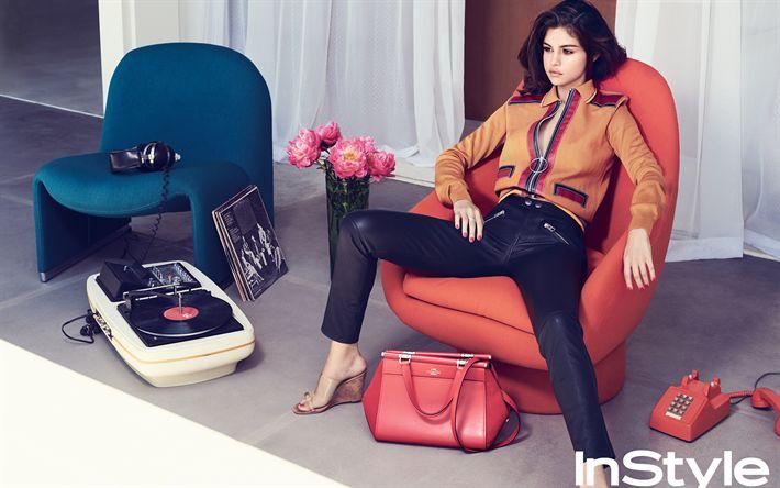 Scarica sfondi Instyle, Selena Gomez, bella ragazza, Hollywood, cantante, bellezza