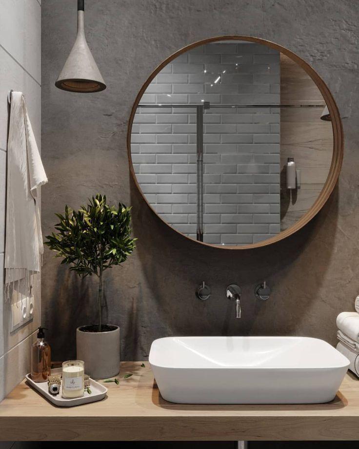 Waschbecken und Spiegel Optionen für das Gästeba…