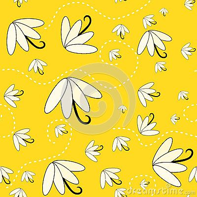Seamless hot summer pattern background with seeds flying. (C) Celia Ascenso 2017