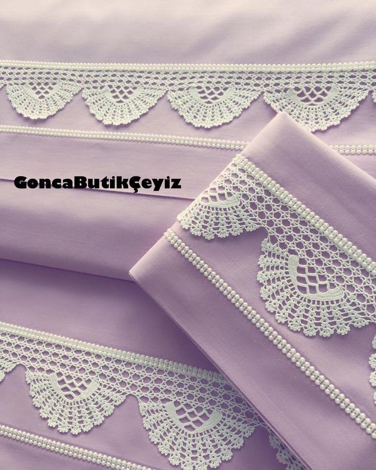 Zehra Türkyazıcı'nın dantelinden nevresim takımı