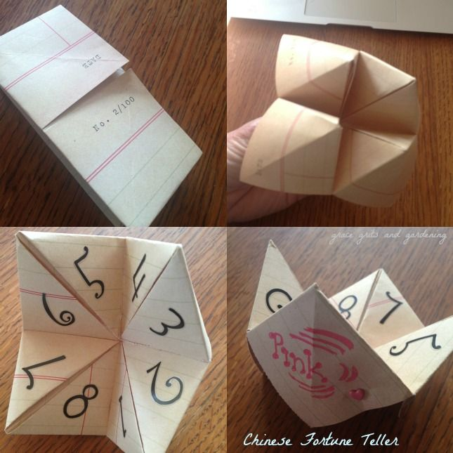 how to make a chinese fortune teller