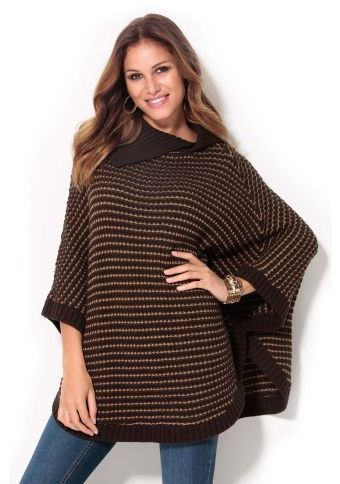 Proužkované pončo #ModinoCZ #ponco #autumn #fall #fashion #moda #comfortable #trend #styl