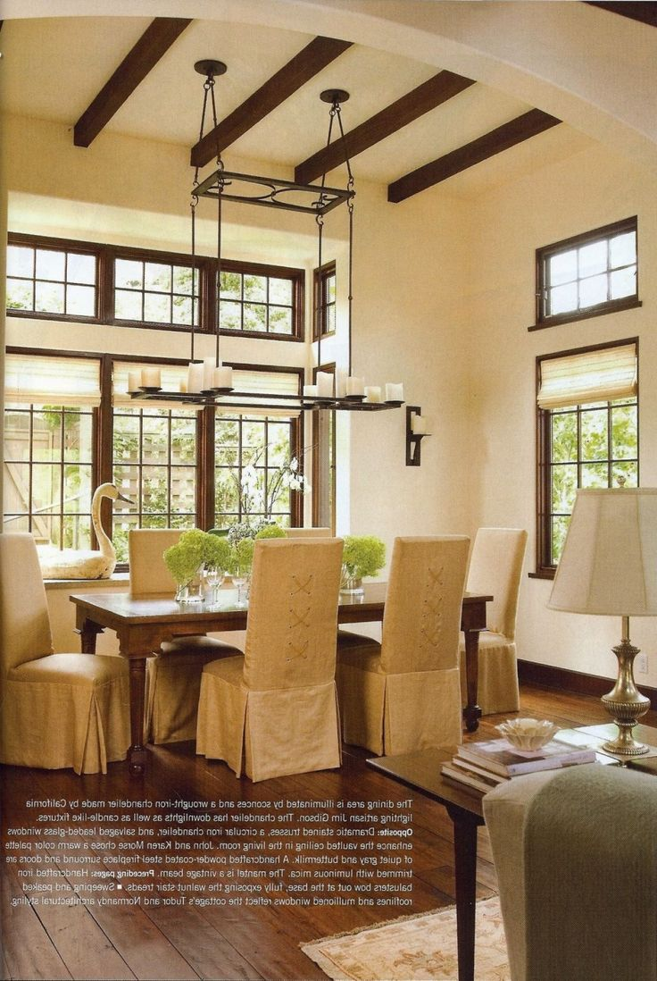 Tudor Style Homes Interior Furniture With Sofa And Round Wooden Table Complete Best