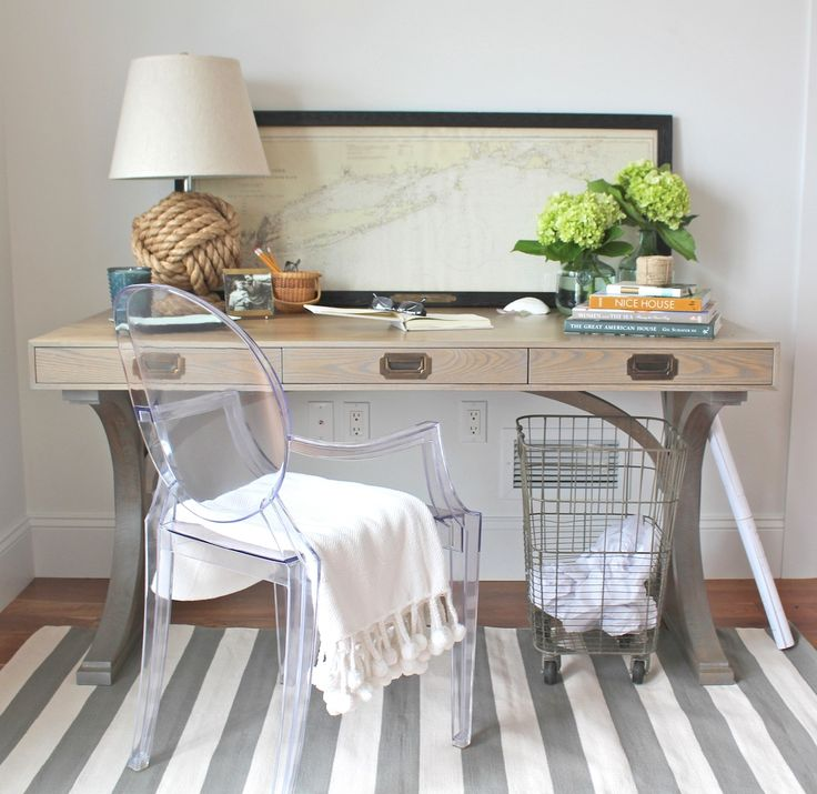 Small Space Styling Tips from Erin Gates of Elements of Style Like the desk