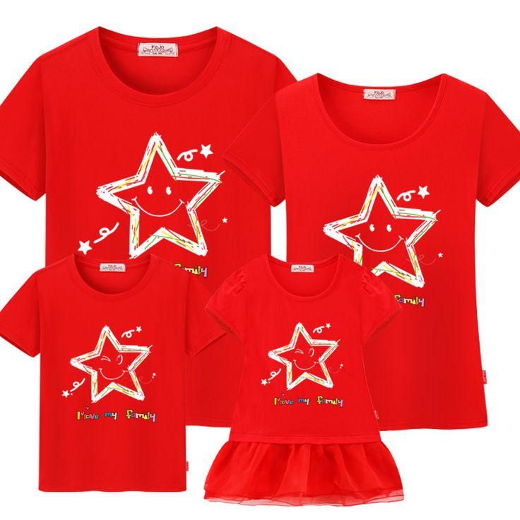 Family Star Pattern Shirt | Price: $10.76 | #babies #pregnancy #kids #mommy #child #love #momlife #babygirl #babyboy #babycute #pregnant #motherhood #photography #photoshoot