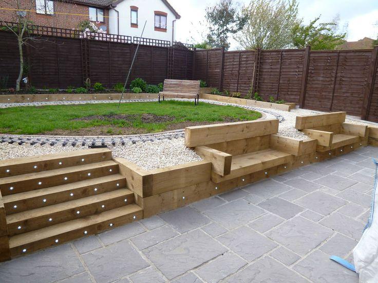 Concrete garden paving slabs 4 size bundle deal 38mm for Garden designs paving slabs