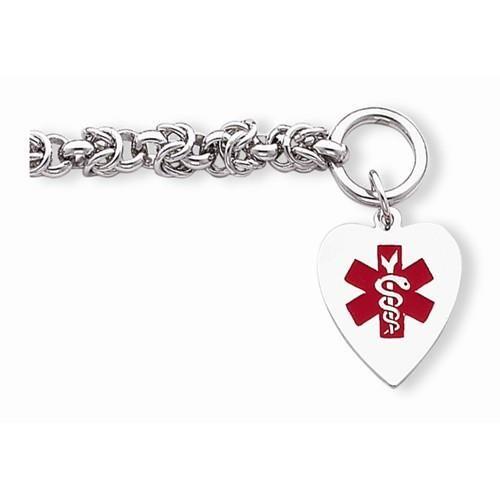 NEW-925-STERLING-SILVER-MEDICAL-ID-BRACELET-ENAMEL-HEART-7-75-TOGGLE-ENGRAVABLE