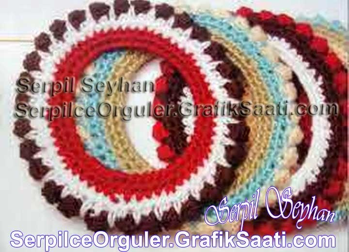 Örgü resim çerçevesi   Knitting picture frame