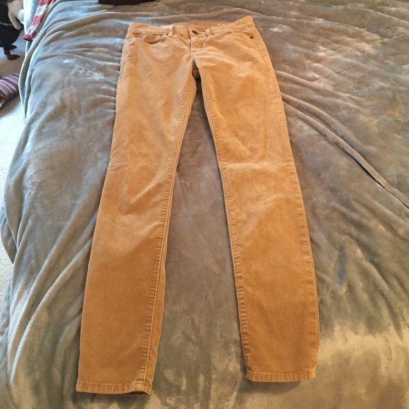 Gap tan Jean legging corduroy Worn once GAP Jeans Skinny