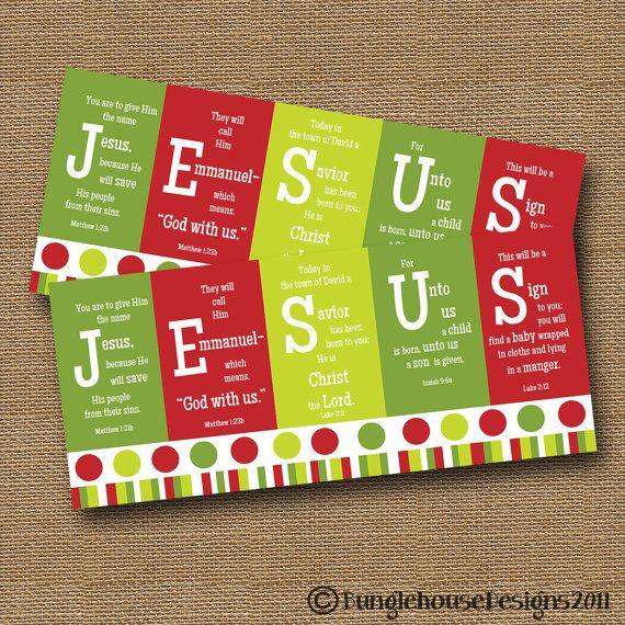 Christmas Card DIY PRINTABLE JESUS Christian by bunglehousedesigns