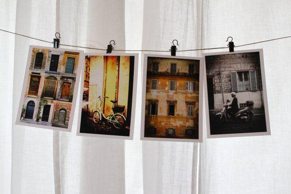 Set of 4 Italian Note Cards Italian Post Cards by BelmondoVintage