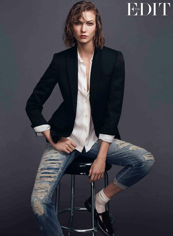 karlie kloss jeans shoot2 Karlie Kloss Stars in The Edit, Says She Looks Up to Christy Turlington
