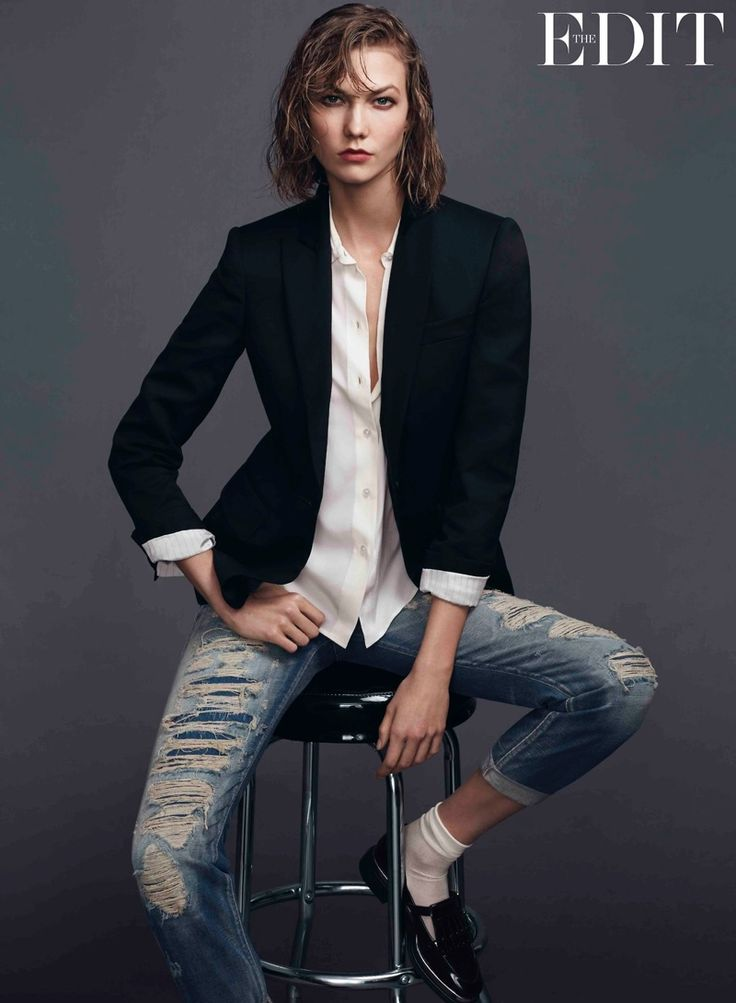 karlie kloss jeans shoot2 Karlie Kloss Stars in The Edit, Says She Looks Up to Christy Turlington