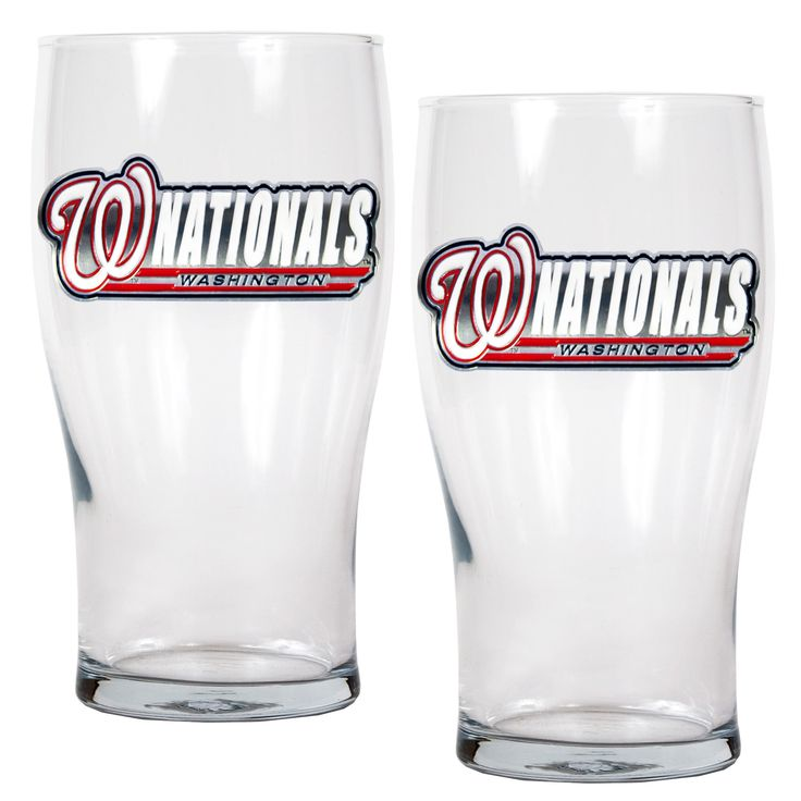 MLB Washington Nationals 2pc Pub Glass Set