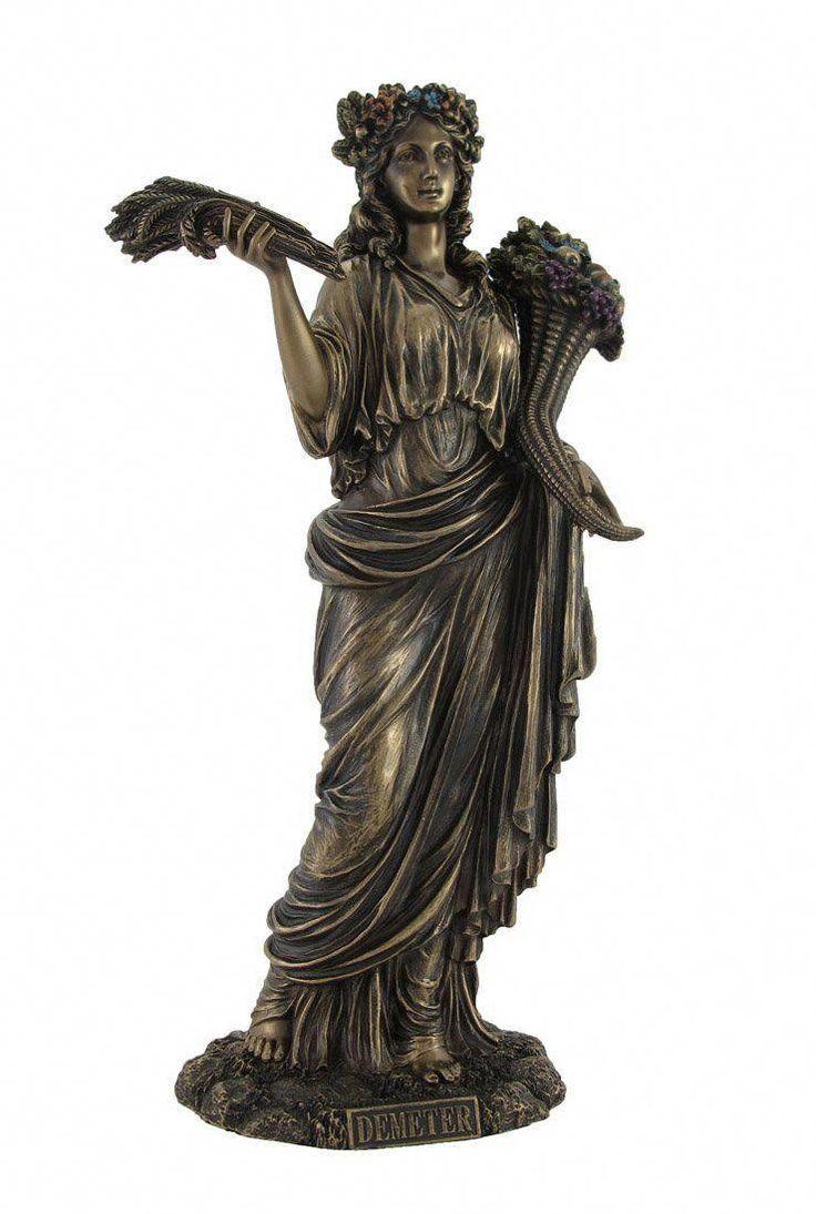 Demeter Greek Goddess of Harvest Statue #statues | Demeter ...
