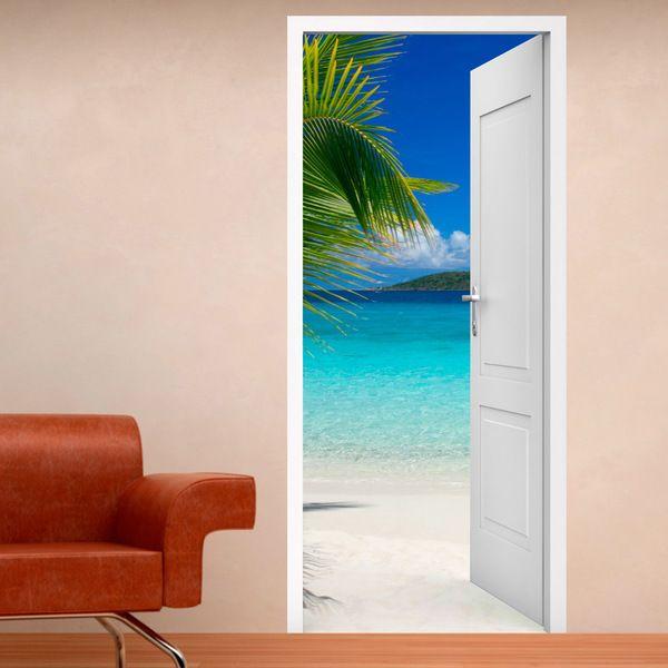 Vinile porta per i Caraibi #decorazione #vinile #porta #StickersMurali