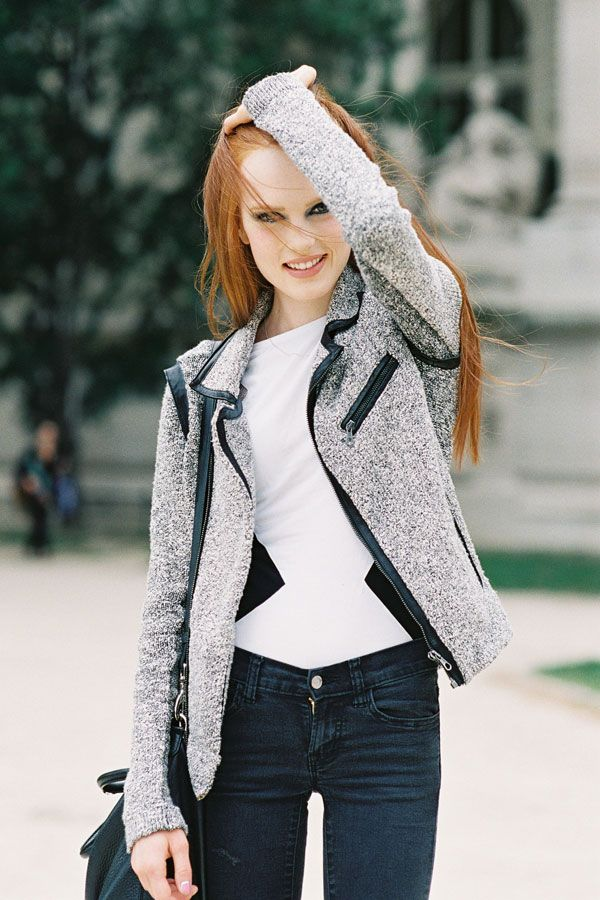 Vanessa Jackman @ Paris Couture Fashion Week AW 2012/13 + Karoline Bjørnelykke + Jeans + Tweed Coat = Casual lux