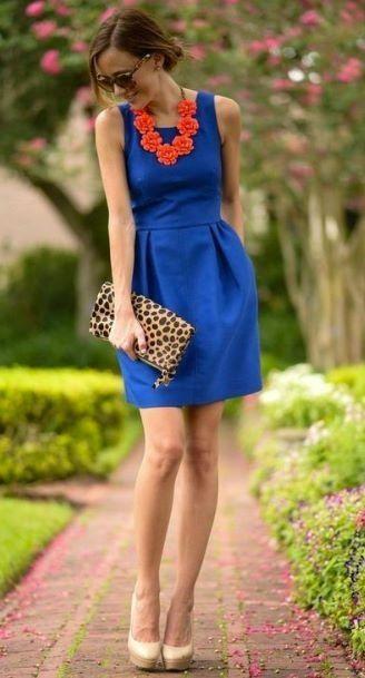 Azul rey vestido