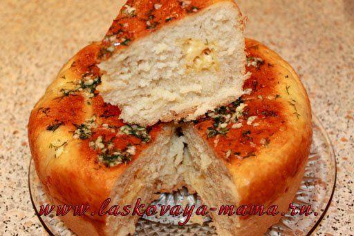 Хлеб с сыром в духовке