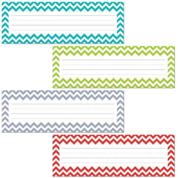 CHEVRON SOLIDS NAME PLATES, $3.59  (http://www.uischoolsupply.com/chevron-solids-name-plates/)