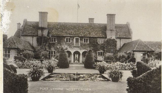The West Garden at Port Lympne, designed by architect Sir Herbert Baker for Tory MP Sir Ph...