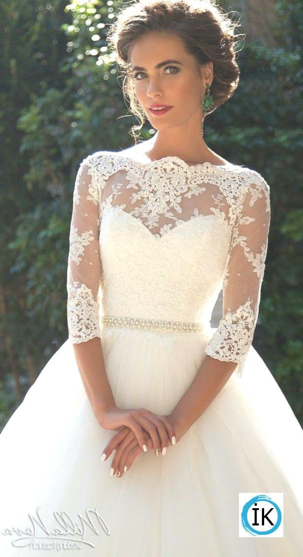 Vestido de noiva Milla Nova: princesa com renda, mangas compridas   – Brautkleid