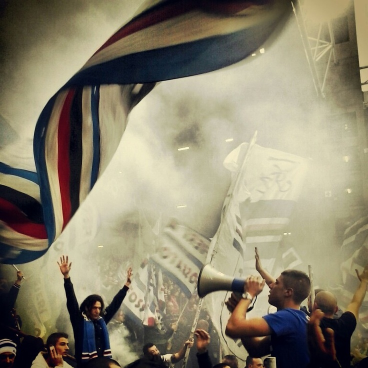 Supporting and singing for #sampdoria