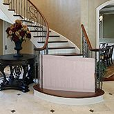 The Stair Barrier is a specially designed, fabric gate for the bottom of the stairs. Made of the best materials and also versatile, shop online today!