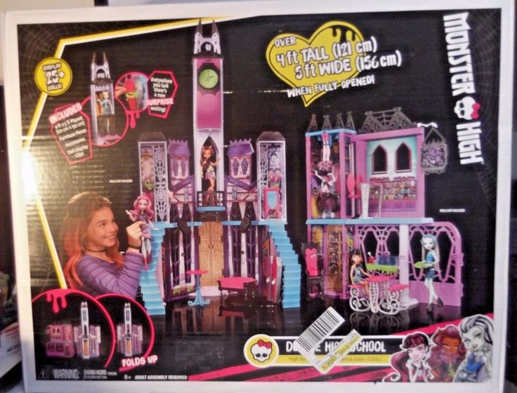 BRAND NEW IN BOX! Deluxe Monster High School Playset Doll New House  #EverAfterHigh #Playset