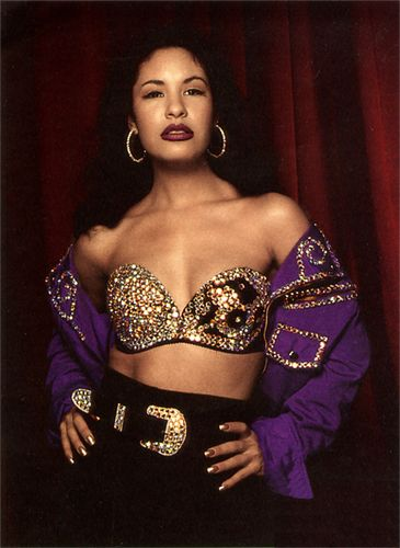 selena quintanilla fashion   love these outfit, the bustier with the skin tight pants. Takes ...