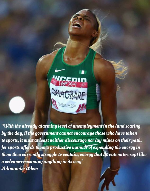 The Nigerian Olympian   Four years have come and gone quickly a whole lot faster than expected and from London in 2012 attention now turns to Rio for the summer Olympics. With one Nigerian executed a few days ago in Indonesia for drug trafficking while we await the next execution of another dangerously ambitious Nigerian youth there or the conviction of another in the US for online fraud (yahoo yahoo) or another wanted for robbery in south Africa or another being listed as a new leader of a…