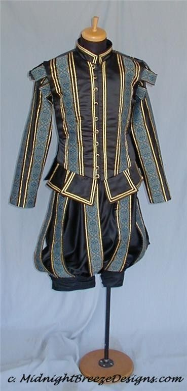 MADE TO ORDER Mens Elizabethan Renaissance by midnightbreezedesign, $345.00