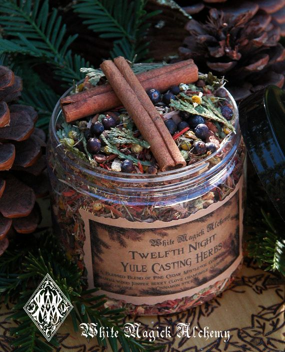 White Magick Alchemy - Yule Twelfth Night Casting Herbs . Yule Bonfires Winter Solstice . Traditional Woods, Fruits and Berries, $14.00 (http://www.whitemagickalchemy.com/yule-twelfth-night-casting-herbs-yule-bonfires-winter-solstice-traditional-woods-fruits-and-berries/)