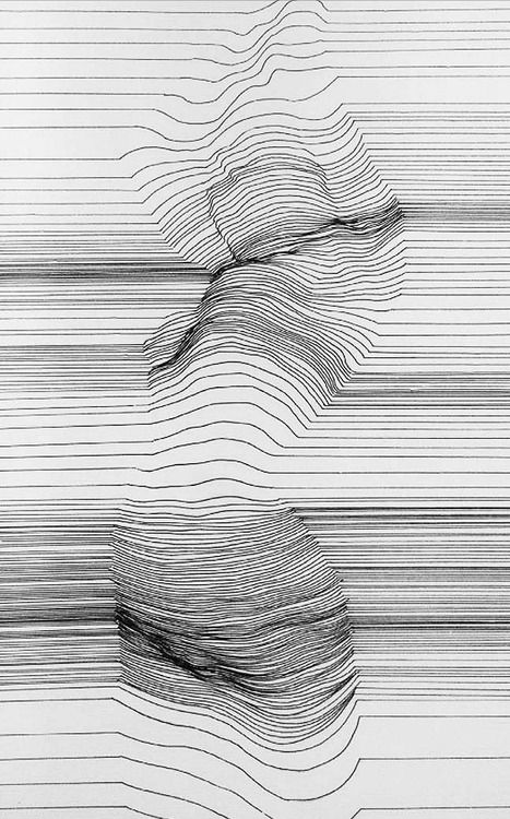 Alexi K, Cognitive Polygraph (Woman Disrobing), 2013 (Pen & Ink)