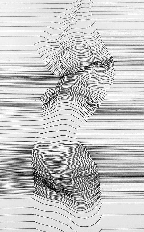 Alexi K, Cognitive Polygraph (Woman Disrobing), 2013 (Pen & Ink)