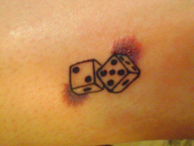 Dice Tattoos On Back