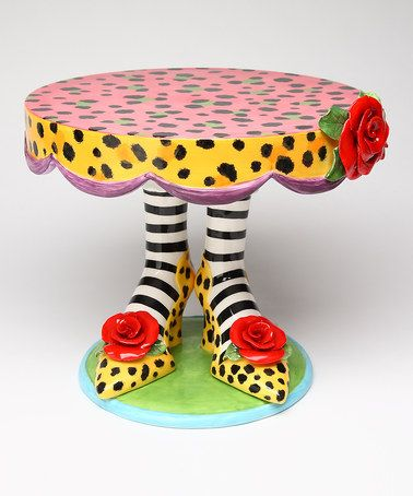 Love this Leopard Large Cake Stand on #zulily! #zulilyfinds