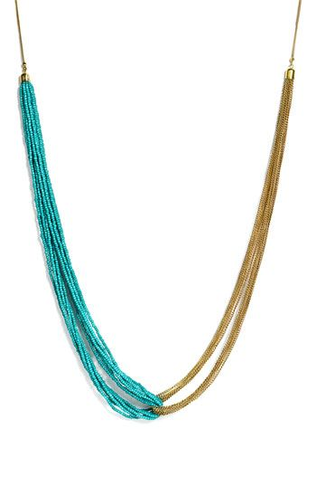 twisted chain and seed bead necklace