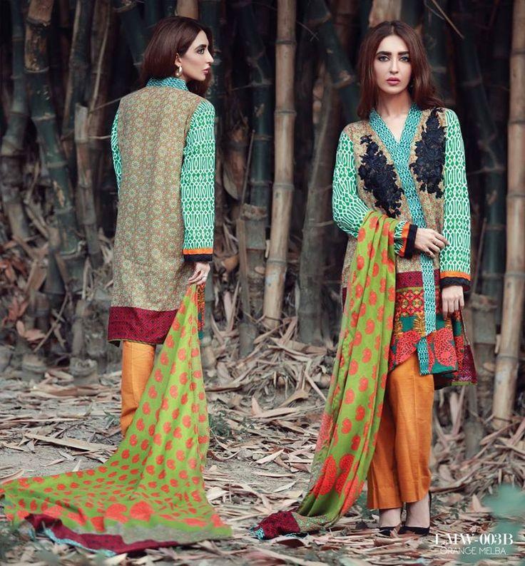 LA MODRENO Embroidered Khaddar Wool Shawl by Lala Textile 2016-17