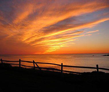 Sunset over Monhegan, ME