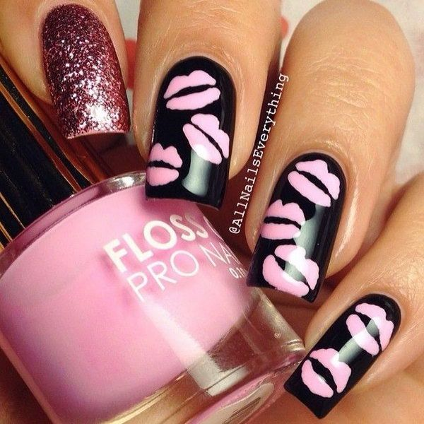 Best 25 kiss nails ideas on pinterest gel nails gel nail sweet kiss nail art designs prinsesfo Image collections