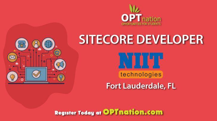 Sitecore Developer Job In Fort Lauderdale Fl At Niit Technology Hiring Now Register At Optnation Sitecore Developer In 2020 Development Lauderdale Job