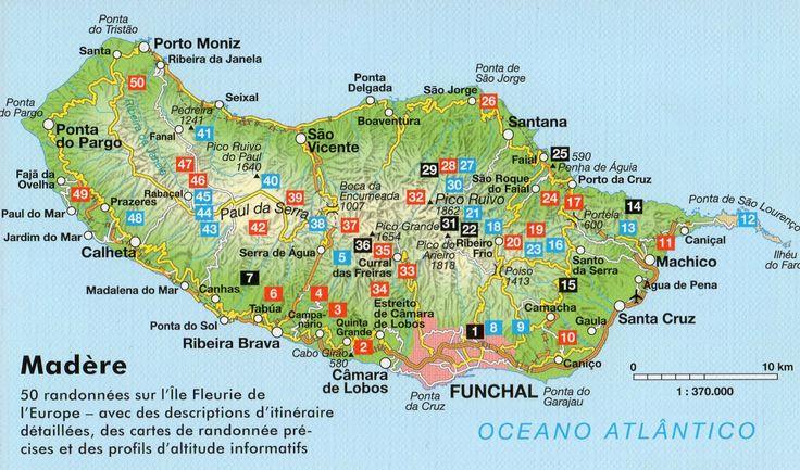Carte générale de l'ile de Madère.