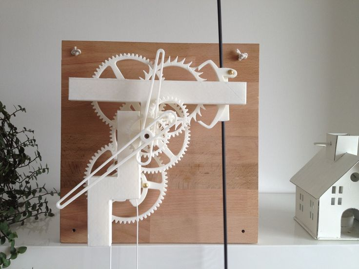 3D Printed Mechanical Clock