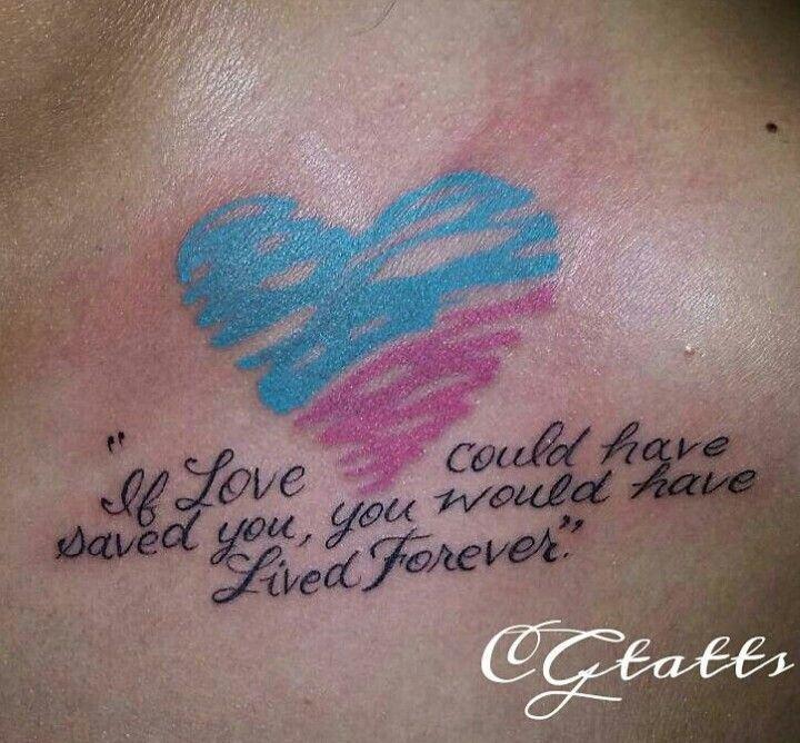 Miscarriage awareness tattoos