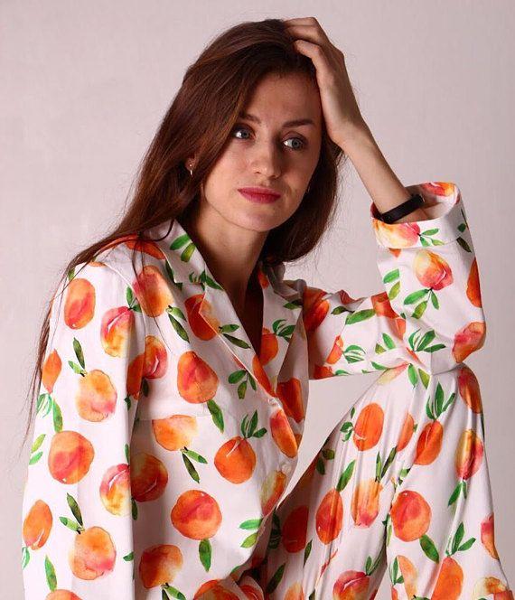 2d070a8fc2 Peach Cotton Pajama Set