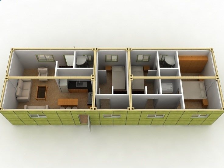 Shipping container layout 5 container home house designs for Container home plans for sale