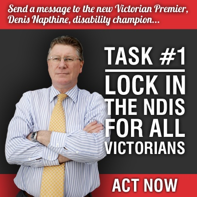 Lock in the NDIS for all Victorians