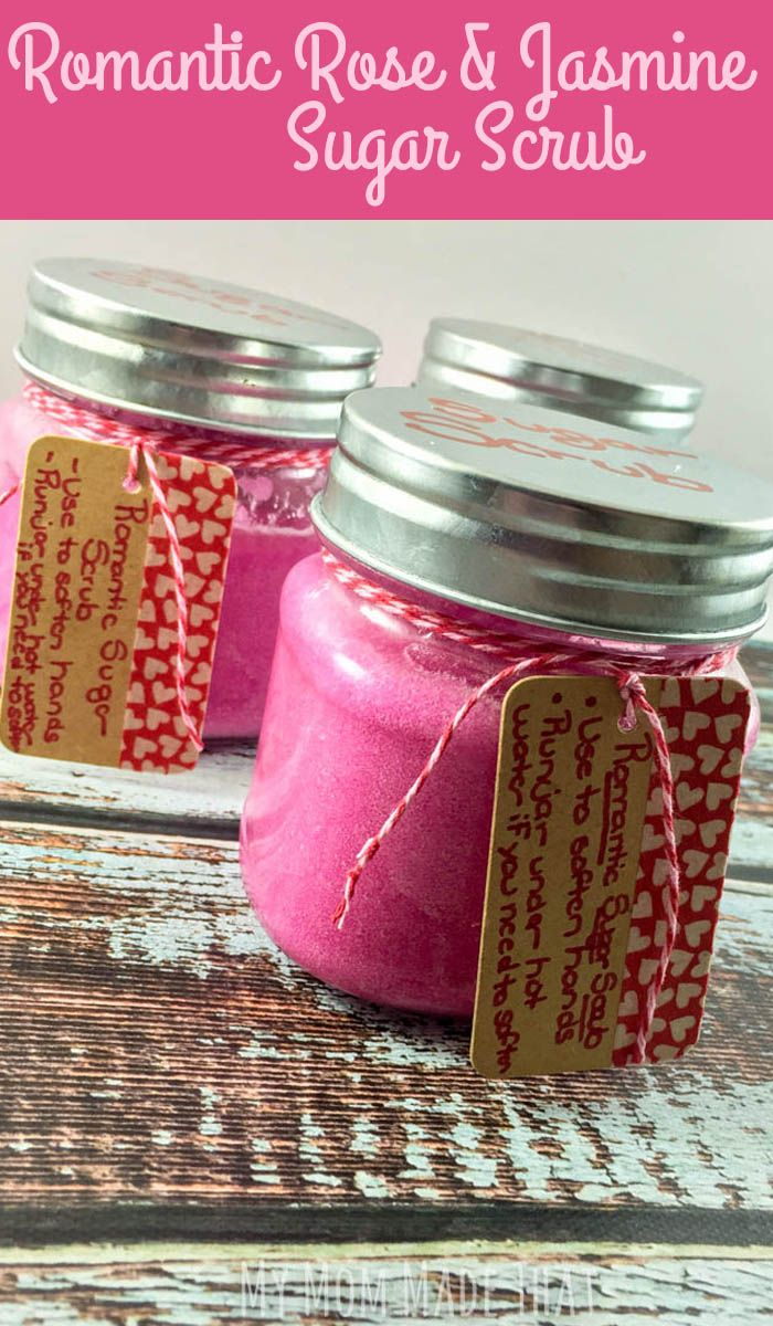 So easy to make and a wonderful gift for mother's day or a teacher appreciation gift, try this romantic Rose Jasmine Sugar Scrub